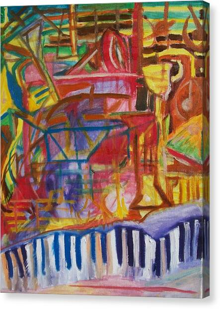 Routes Of Jazz Canvas Print by James Christiansen