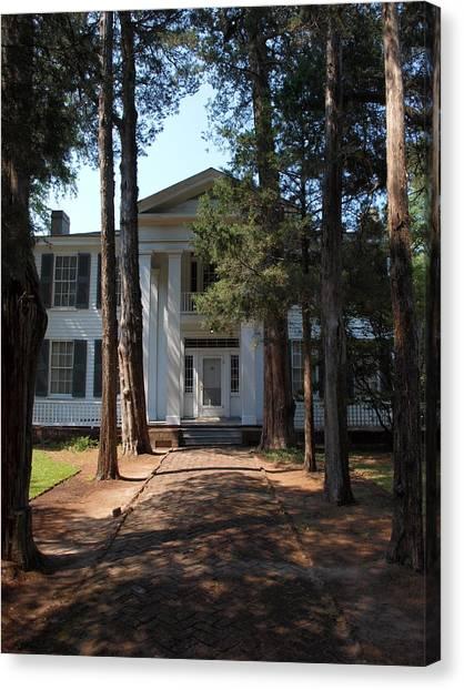 University Of Mississippi Ole Miss Canvas Print - Rowen Oak Porch by Joshua House