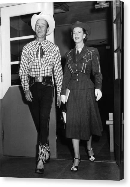 Roy Rogers, And His Wife Dale Evans Canvas Print by Everett