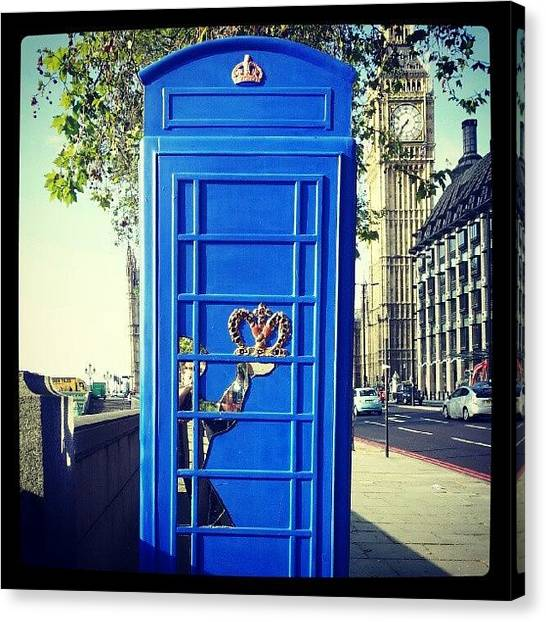 Big Ben Canvas Print - Royal Phone Booth by Lynda Larbi