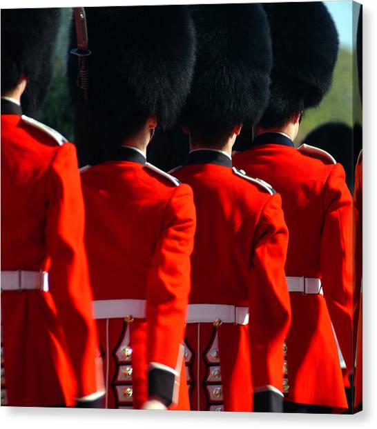 Royal Guard Canvas Print - Royal Windsor, England by Edward Staines