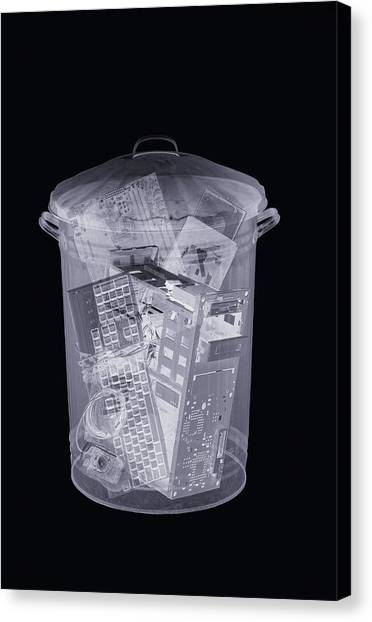 Rubbish Bin, Simulated X-ray Canvas Print by Mark Sykes