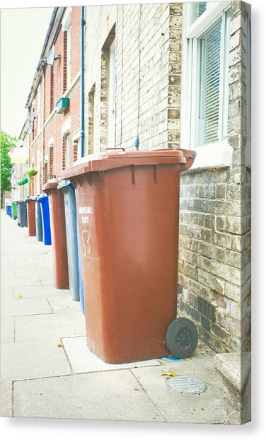 Rubbish Bin Canvas Print - Rubbish Bins by Tom Gowanlock