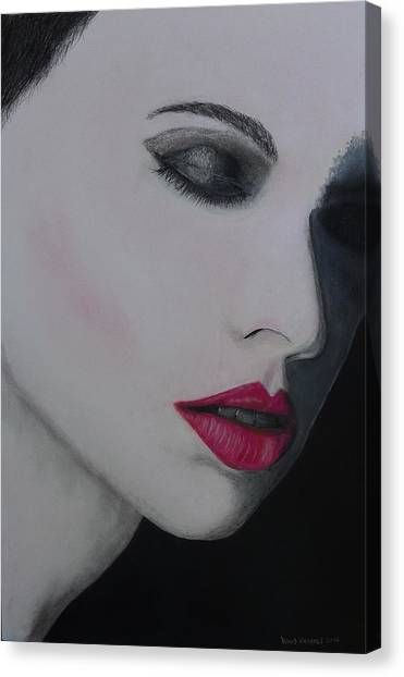 Ruby Lips Canvas Print by David Hawkes