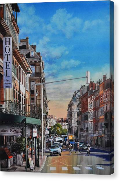Rue De Metz In Toulouse Canvas Print