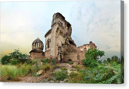 Sikhism Canvas Print - Ruins Of Gurdwara by A doctor/photographer from Lahore, Pakistan