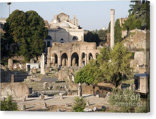 The Forum Canvas Print - Ruins. Roman Forum by Bernard Jaubert