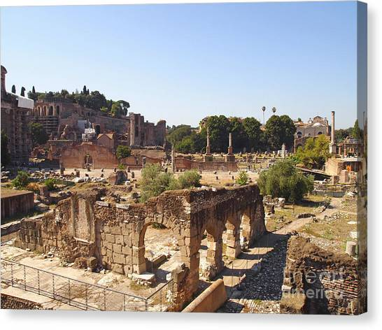 The Forum Canvas Print - Ruins. Roman Forum. Rome by Bernard Jaubert
