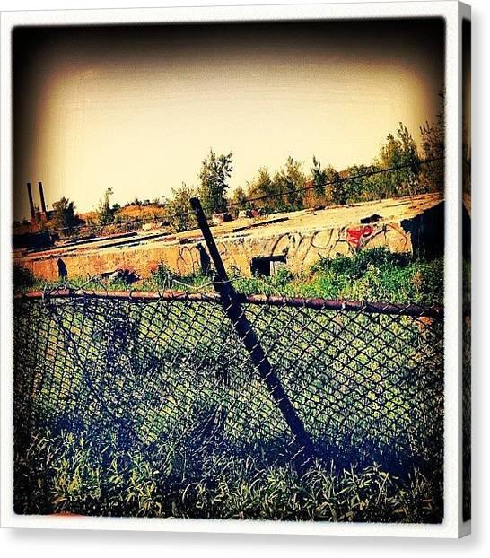 Quebec Canvas Print - #ruins #ruines #quebec #qc #mtl by Nicolas Marois