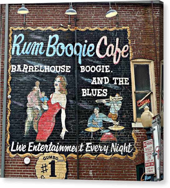 Rum Boogie Cafe Canvas Print
