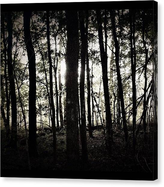 Horror Canvas Print - Run re-edit #woods #creepy #horror by Anthony  Bates