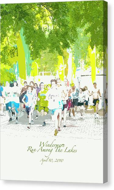 Run Walk Poster Canvas Print