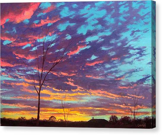 Colourful Canvas Print - Rural Sunset by Graham Gercken