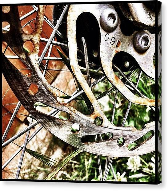 Bicycle Canvas Print - Rust In Peace by Mark B