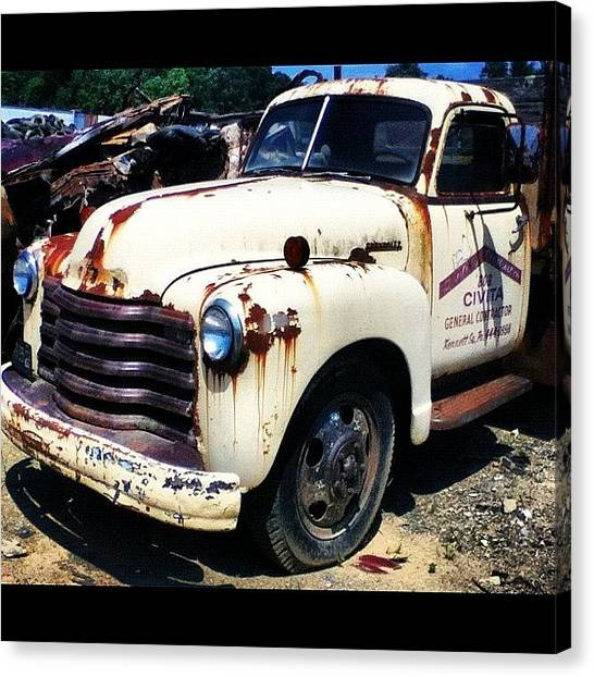 Dodge Canvas Print - #rustbucket Spotted At The #boneyard by Charles Dowdy