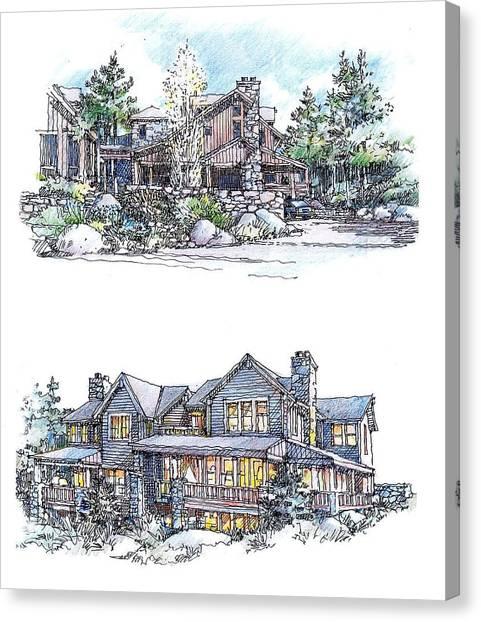 Rustic Home Canvas Print