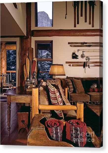 Acc Canvas Print - Rustic Lodge Interior by Robert Pisano