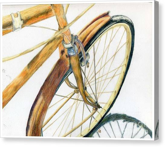 Rusty Beach Bike Canvas Print