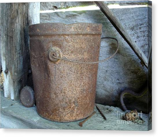 Rusty Bucket Canvas Print