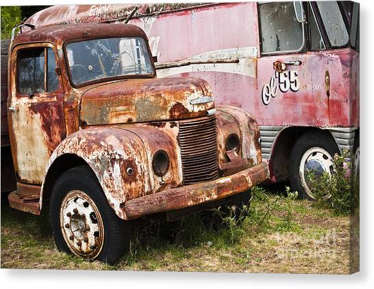 Rusty Commer  Canvas Print by David Lade
