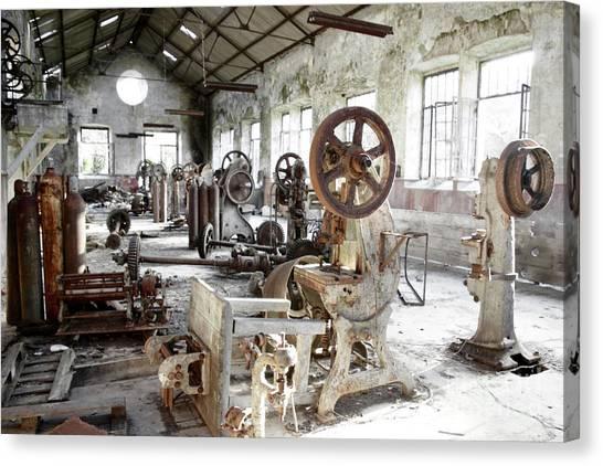 Junk Canvas Print - Rusty Machinery by Carlos Caetano