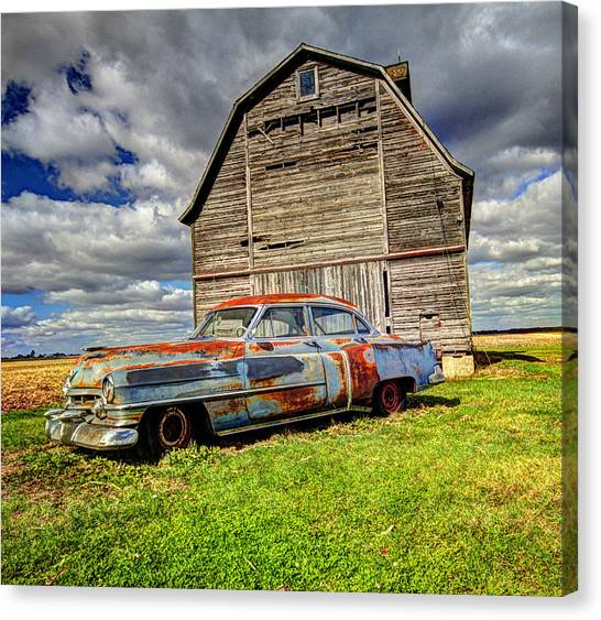 Rusty Old Cadillac Canvas Print