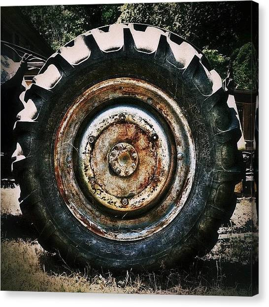 Tractors Canvas Print - #rusty #old #tractor. #rustythursday by Rob Beasley