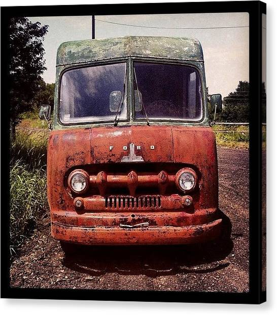 Ford Canvas Print - #rusty #rusted #old #vintage #ford by T C