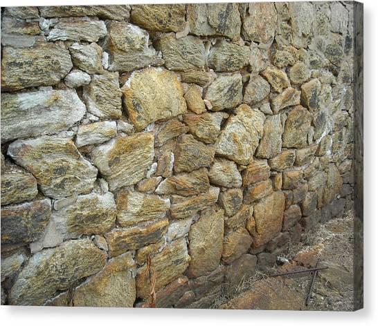 Rusty Stone Wall Canvas Print