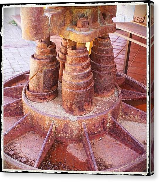 Machinery Canvas Print - Rusty Thursday #rustythursday #rust by Polly Rhodes