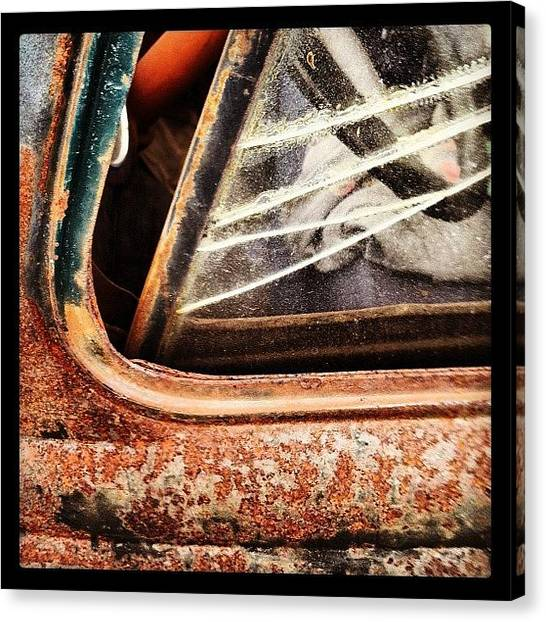 Trucks Canvas Print - Rusty Viewpoint by Gwyn Newcombe