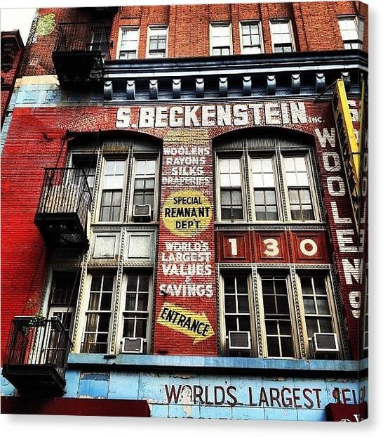Street Signs Canvas Print - S. Beckenstein - Orchard Street - New York City by Vivienne Gucwa