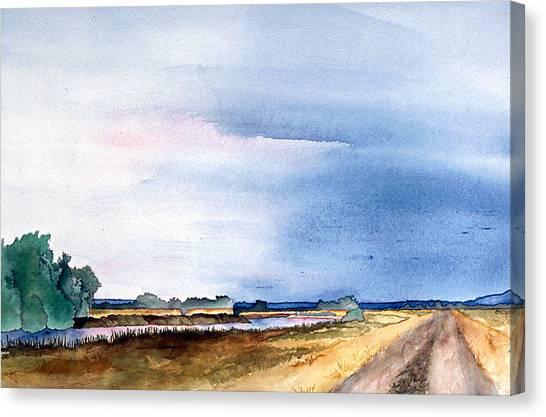 Sacramento River Road Canvas Print by Eunice Olson