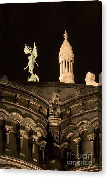 Sacre Coeur By Night Vi Canvas Print by Fabrizio Ruggeri