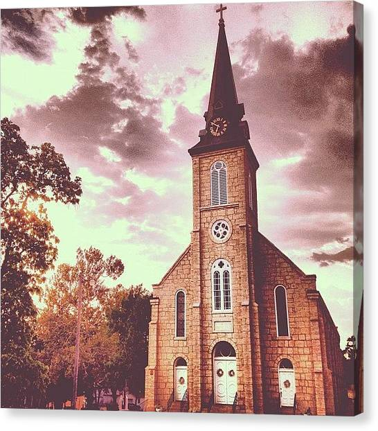 Priests Canvas Print - Sacred Heart Church 1 by Rex Pennington