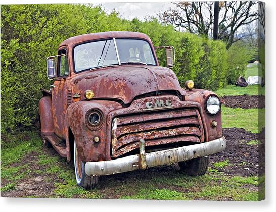 Sad Truck Canvas Print