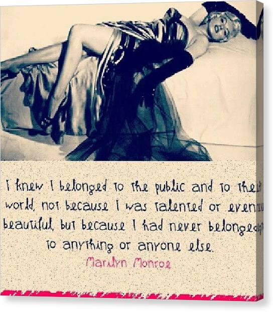 Marilyn Monroe Canvas Print - Sadness And Gorgeous by Holley Jacobs