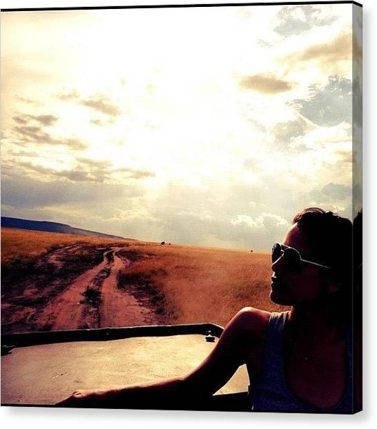 Dirt Road Canvas Print - Safari Serengeti by Crystal Peterson