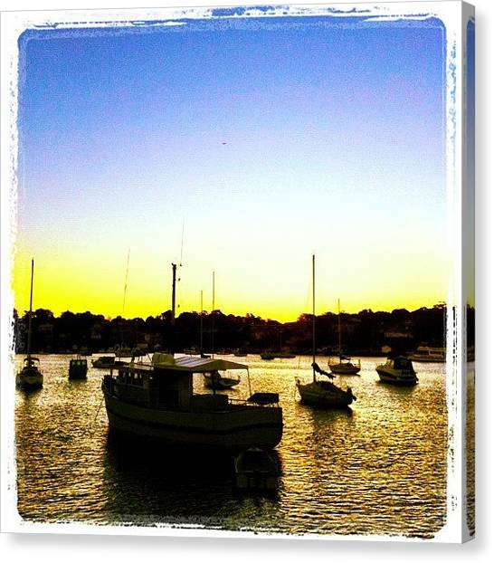 Saints Canvas Print - Safe Harbour #iphoneography by Kendall Saint