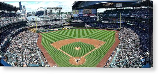 Seattle Mariners Canvas Print - Safeco Field Panoramic by Richard Weldon