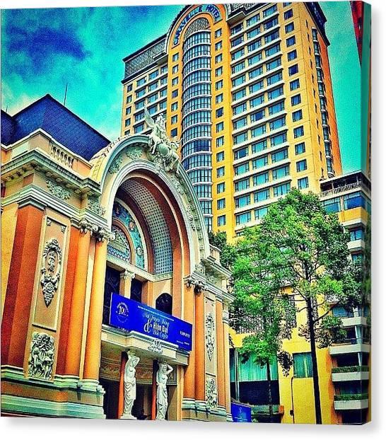 Vietnamese Canvas Print - Saigon Opera. Vietnam by Evgeny Poliganov