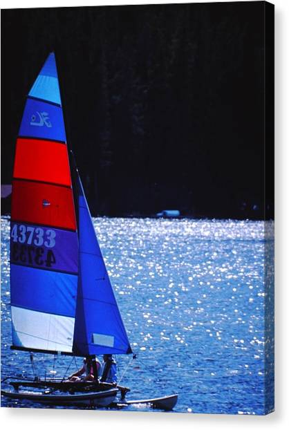Sail Away Canvas Print by Richard Stillwell