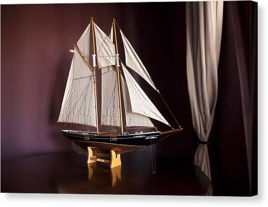 Sail Boat Canvas Print by Miguel Capelo