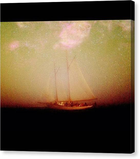 Outer Space Canvas Print - #sailboat #boat #ghost #ghostship by Nate Greenberg