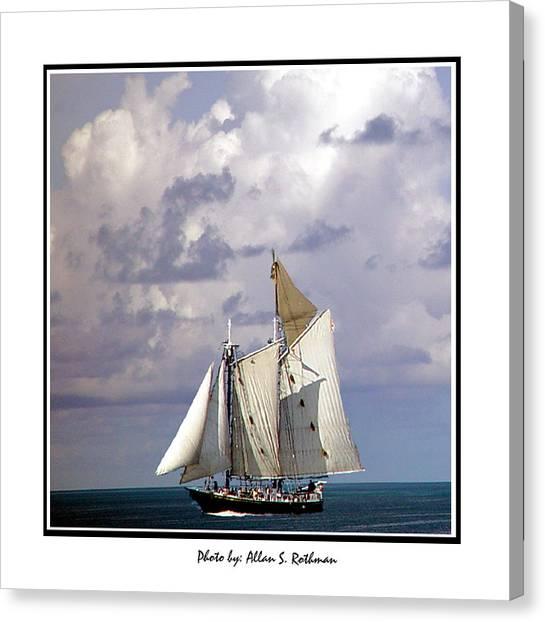 Sailboat Clouds Canvas Print