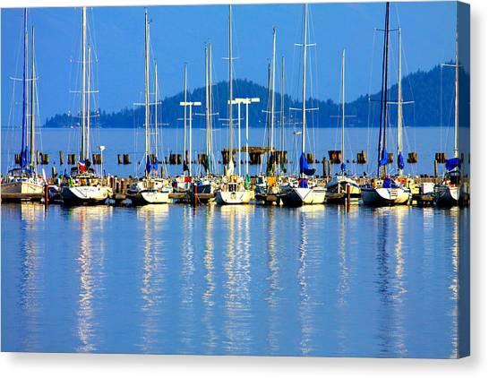 Sailing Canvas Print - Sailboats Reflections by Karon Melillo DeVega