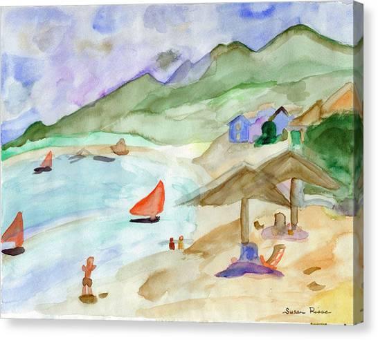 Sailboats Canvas Print by Susan Risse