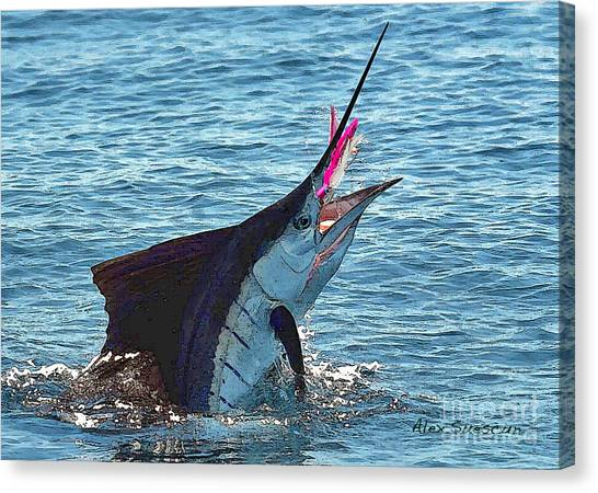Sailfish Shake Canvas Print