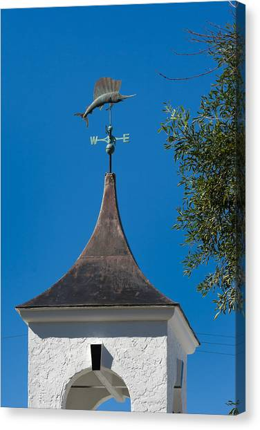 Sailfish Weather Vane At Palm Beach Shores Canvas Print