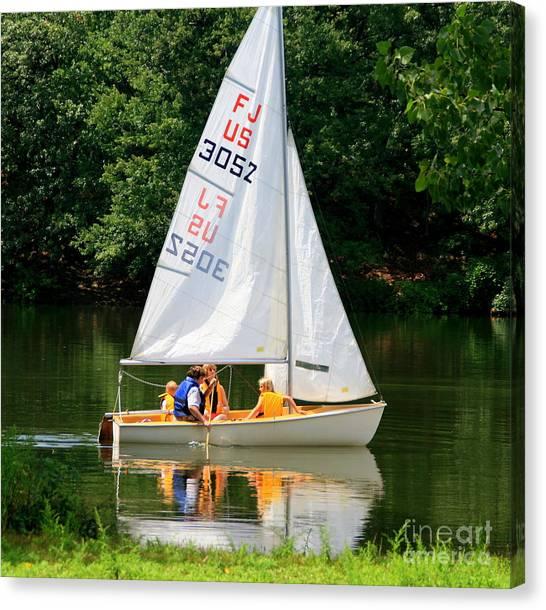 Sailing   Canvas Print by Lennie Malvone